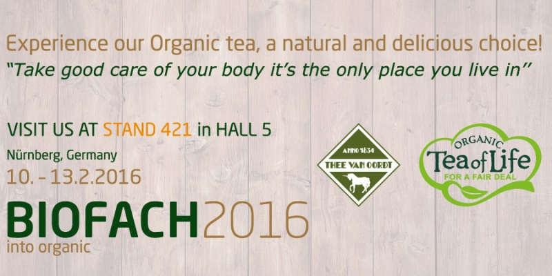 Organic tea is our natural choice!