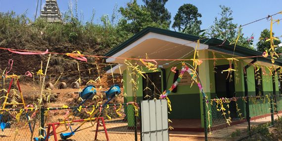 New Fair-grounds child care centre on Vellaioya Estate :